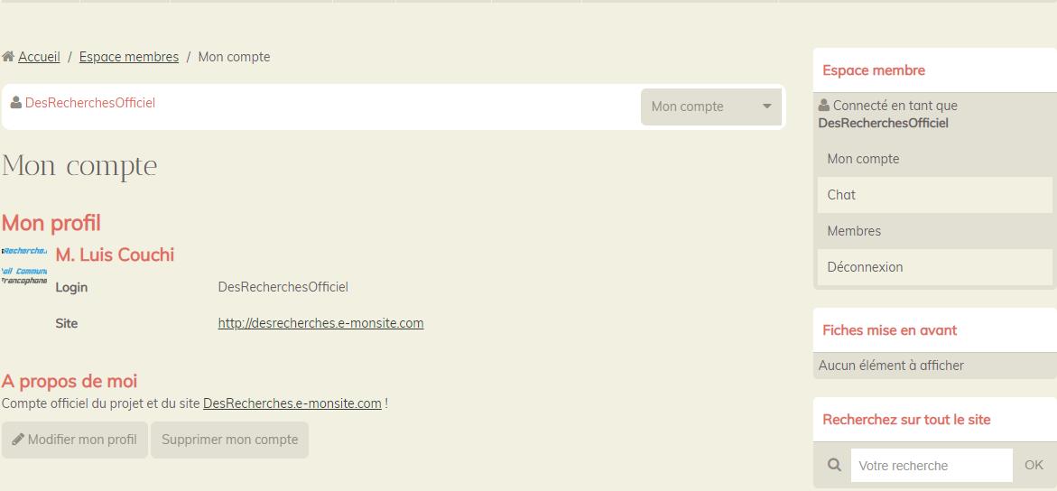 Utilisateurs / Partenaires : Créer et gérer son profil! (1)