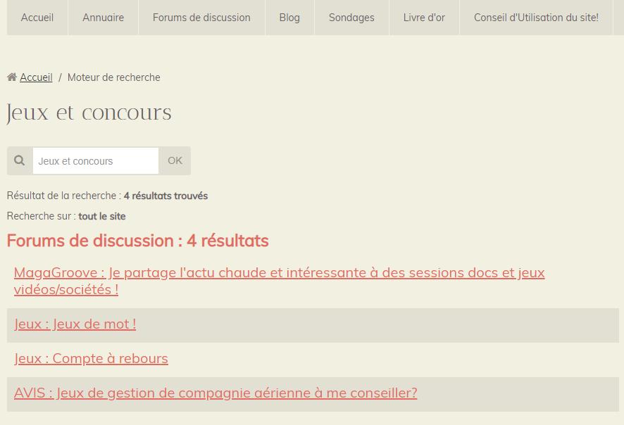 Utilisateurs : phrases/mots-clés pertinents = Résultats pertinents ! (1)