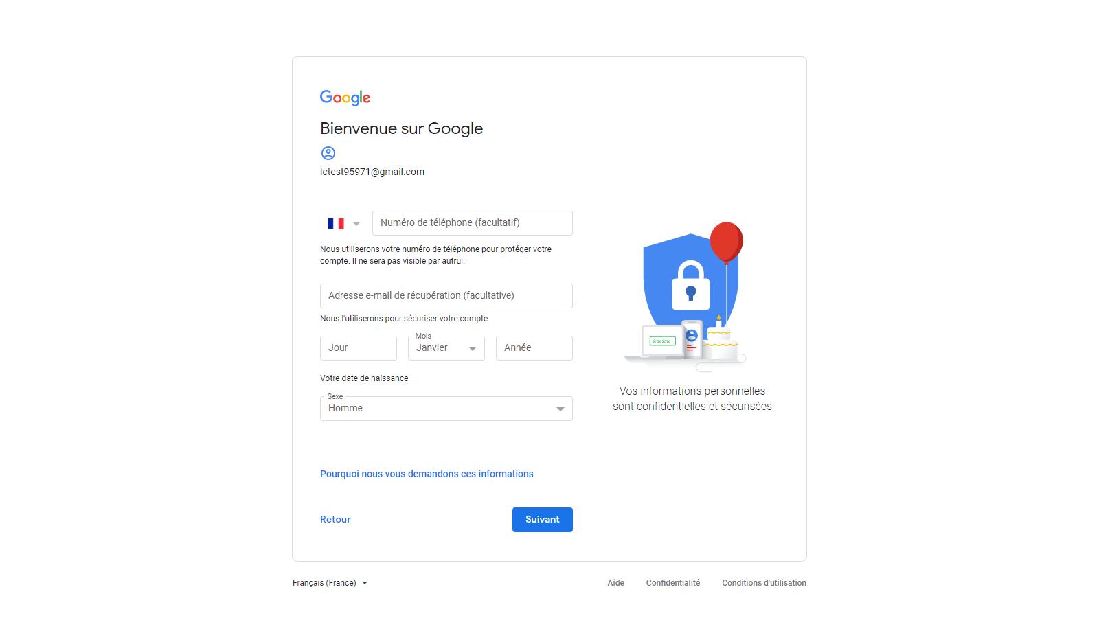 Capture d'écran - créer votre compte Google (2)