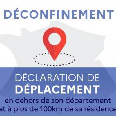 Gouv.fr: Déconfinement déclaration de déplacement.
